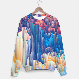 Thumbnail image of Glitches in the Clouds Cotton sweater, Live Heroes