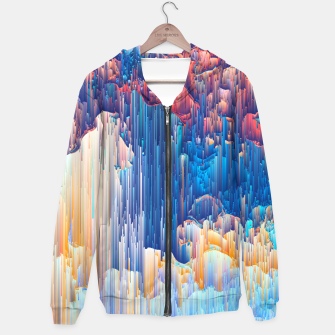 Thumbnail image of Glitches in the Clouds Cotton zip up hoodie, Live Heroes