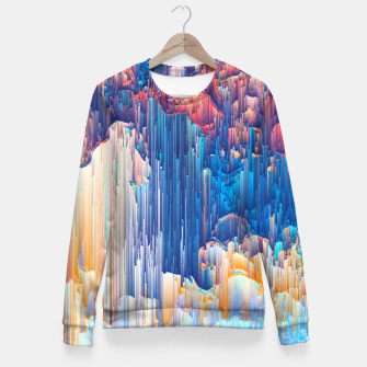 Thumbnail image of Glitches in the Clouds Woman cotton sweater, Live Heroes