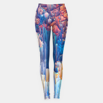 Thumbnail image of Glitches in the Clouds Leggings, Live Heroes