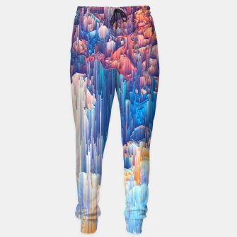 Thumbnail image of Glitches in the Clouds Cotton sweatpants, Live Heroes