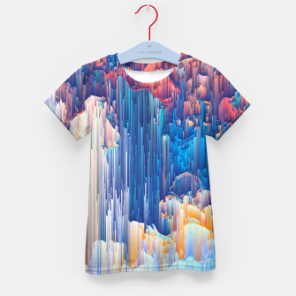 Thumbnail image of Glitches in the Clouds Kid's t-shirt, Live Heroes