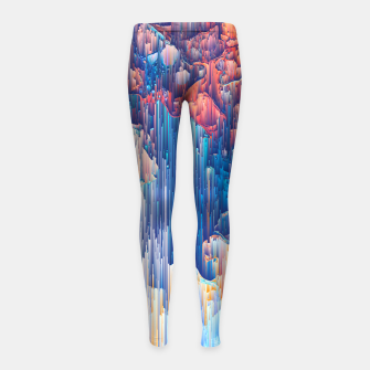 Thumbnail image of Glitches in the Clouds Girl's leggings, Live Heroes