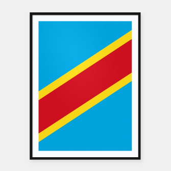 Miniatur Flag of Democratic Republic of the Congo  Framed poster, Live Heroes