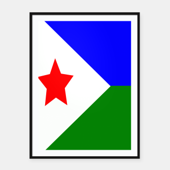 Miniatur Flag of Djibouti  Framed poster, Live Heroes