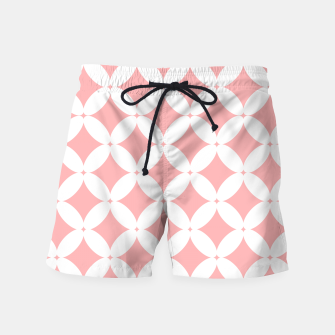 Miniaturka Abstract pattern - pink and white. Swim Shorts, Live Heroes