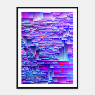 Miniatur Squiffy Glitches Framed poster, Live Heroes
