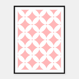 Miniatur Abstract pattern - pink and white. Framed poster, Live Heroes