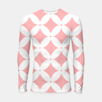 Miniatur Abstract pattern - pink and white. Longsleeve rashguard , Live Heroes