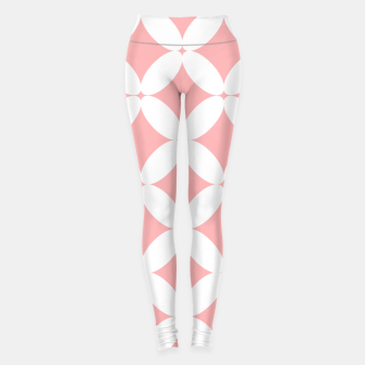 Miniatur Abstract pattern - pink and white. Leggings, Live Heroes