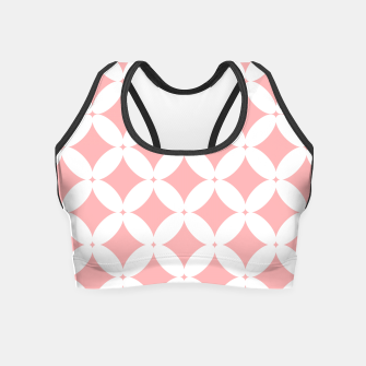 Miniatur Abstract pattern - pink and white. Crop Top, Live Heroes