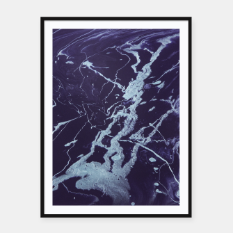 Miniatur Rivulets - An Abstract Framed poster, Live Heroes