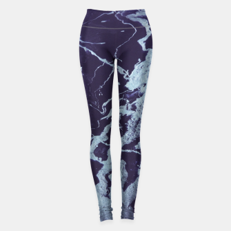 Miniatur Rivulets - An Abstract Leggings, Live Heroes