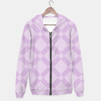 Thumbnail image of Abstract geometric pattern - purple. Cotton zip up hoodie, Live Heroes