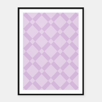 Miniatur Abstract geometric pattern - purple. Framed poster, Live Heroes