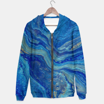Thumbnail image of Agate - An Abstract Cotton zip up hoodie, Live Heroes