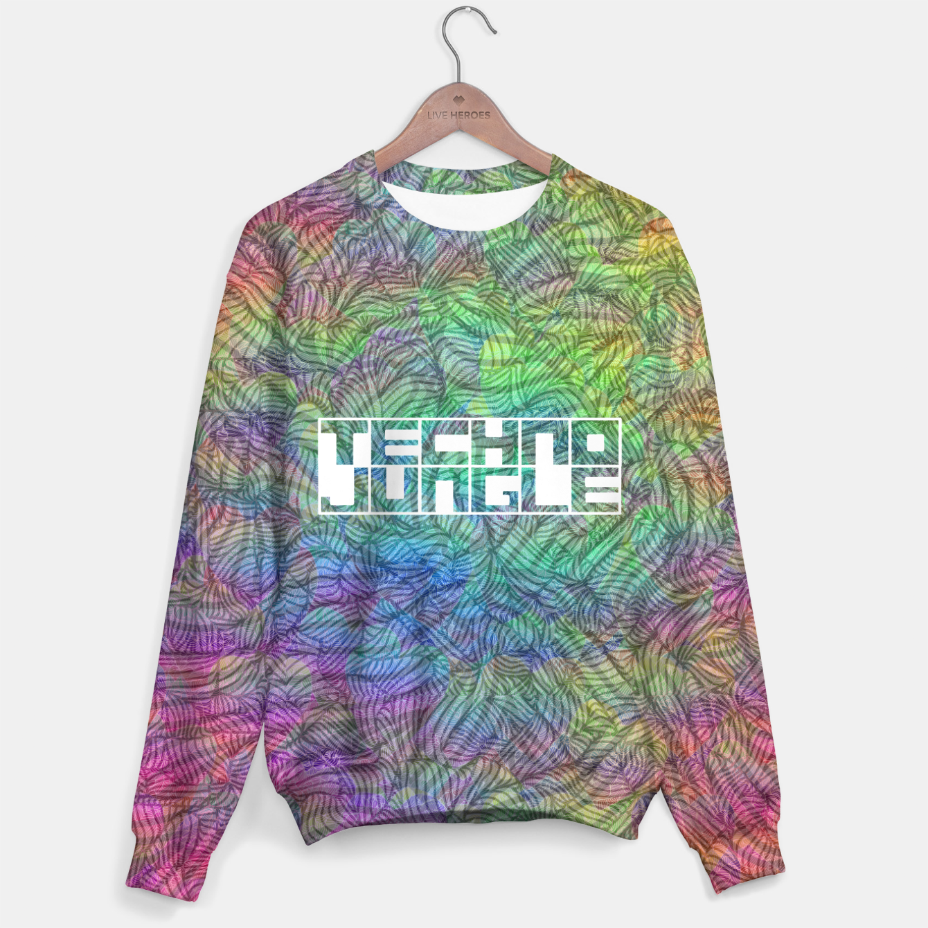 Image of Techno Jungle Cotton sweater - Live Heroes