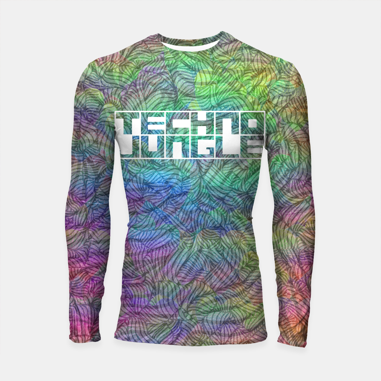 Image of Techno Jungle Longsleeve rashguard  - Live Heroes