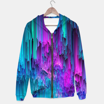 Thumbnail image of Neon Drifting Cotton zip up hoodie, Live Heroes
