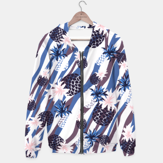 Thumbnail image of Pi Pineapple Cotton zip up hoodie, Live Heroes