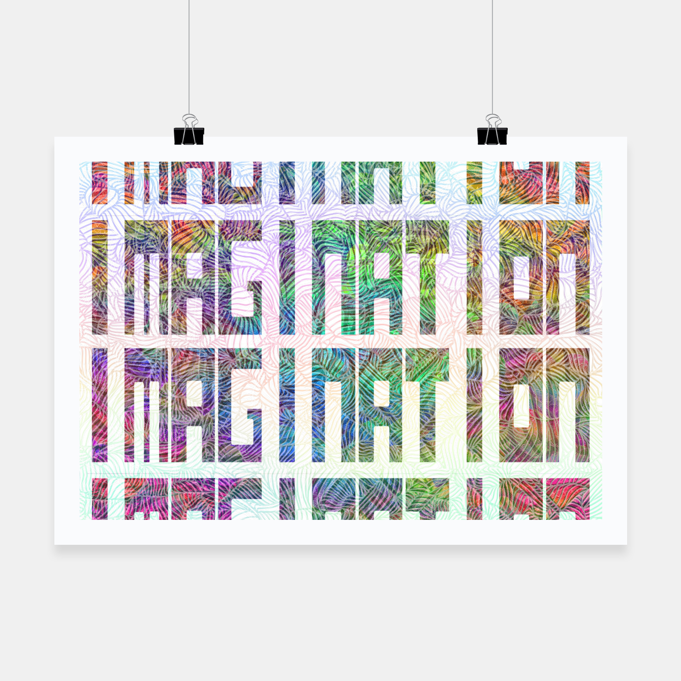 Image of Imagination Poster - Live Heroes