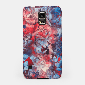 Thumbnail image of flowers red and blue pattern #flowers #pattern Obudowa na Samsunga, Live Heroes