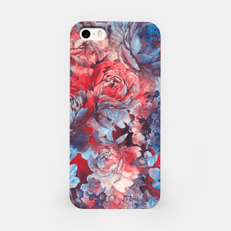 Miniaturka flowers red and blue pattern #flowers #pattern Obudowa iPhone, Live Heroes