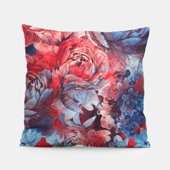 Miniaturka flowers red and blue pattern #flowers #pattern Poduszka, Live Heroes