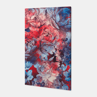 Miniaturka flowers red and blue pattern #flowers #pattern Canvas, Live Heroes