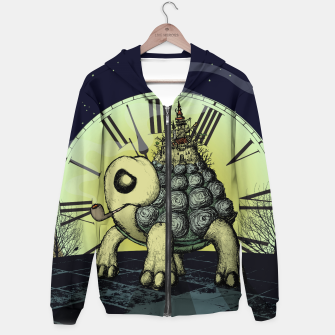 Thumbnail image of TIME TO LEAVE Cotton zip up hoodie, Live Heroes