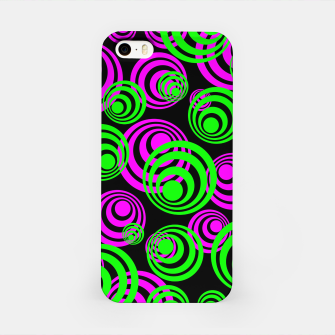 Miniaturka Neon Green and Pink Circles iPhone Case, Live Heroes