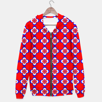 Thumbnail image of floral pattern Cotton zip up hoodie, Live Heroes