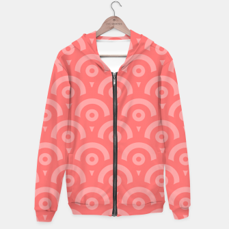 Thumbnail image of Abstract pattern - pink. Cotton zip up hoodie, Live Heroes
