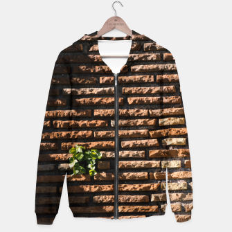 Thumbnail image of Tiles and plants Cotton zip up hoodie, Live Heroes