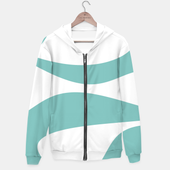 Thumbnail image of Abstract pattern - blue and white. Cotton zip up hoodie, Live Heroes
