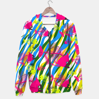 Thumbnail image of Crazy Fishes Cotton zip up hoodie, Live Heroes