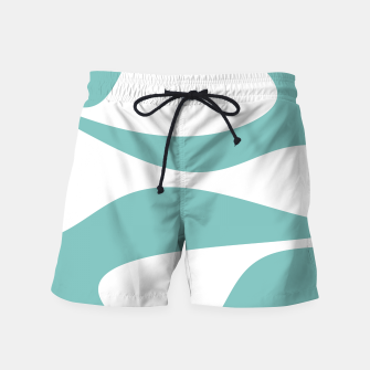 Miniaturka Abstract pattern - blue and white. Swim Shorts, Live Heroes