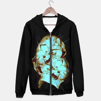 Thumbnail image of Dual Cotton zip up hoodie, Live Heroes