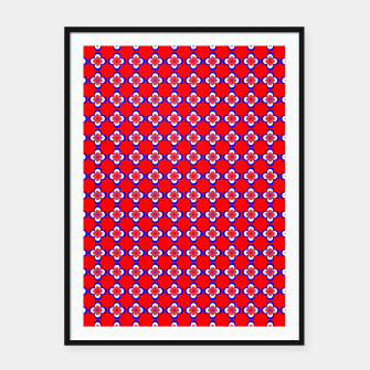 Thumbnail image of floral pattern Framed poster, Live Heroes