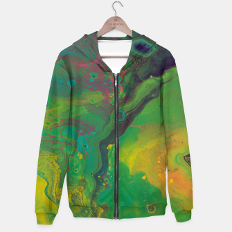Thumbnail image of Unknown Planet - Abstract Cotton zip up hoodie, Live Heroes