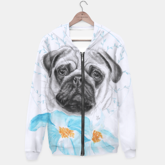 Thumbnail image of Poppypug Cotton zip up hoodie, Live Heroes