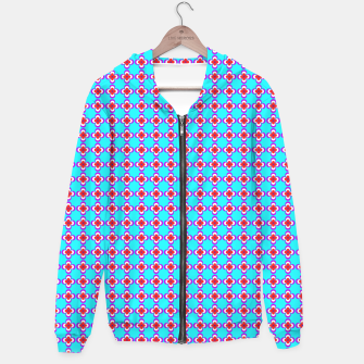 Thumbnail image of trendy floral vintage pattern, blue background Cotton zip up hoodie, Live Heroes
