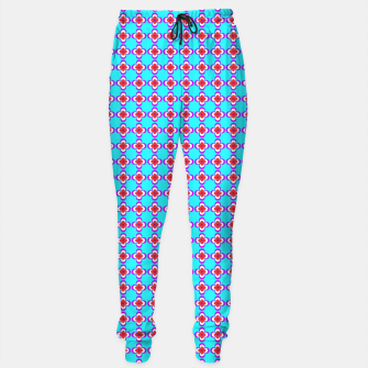 Thumbnail image of trendy floral vintage pattern, blue background Cotton sweatpants, Live Heroes