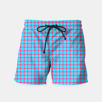 Thumbnail image of trendy floral vintage pattern, blue background Swim Shorts, Live Heroes