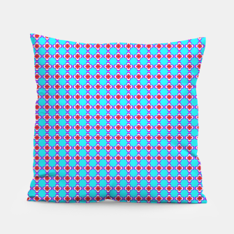 Thumbnail image of trendy floral vintage pattern, blue background Pillow, Live Heroes