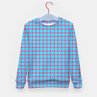Thumbnail image of trendy floral vintage pattern, blue background Kid's sweater, Live Heroes