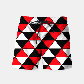 Miniaturka Abstract geometric pattern - red, black and white. Swim Shorts, Live Heroes