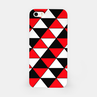 Miniaturka Abstract geometric pattern - red, black and white. iPhone Case, Live Heroes
