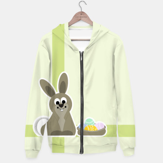 Thumbnail image of sweet easter bunny Cotton zip up hoodie, Live Heroes