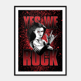 Thumbnail image of Girls ROCK Framed poster, Live Heroes